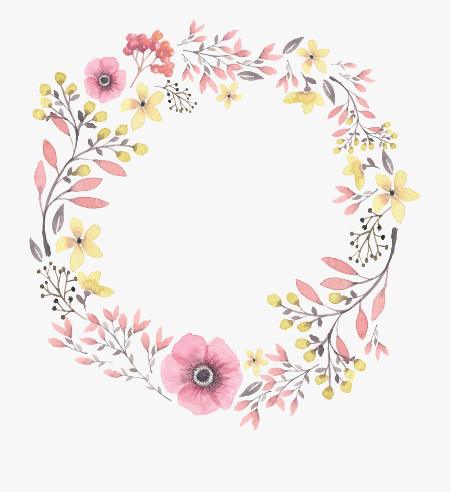 Painted Wreath Hand Watercolor Wreaths Iphone Clipart.