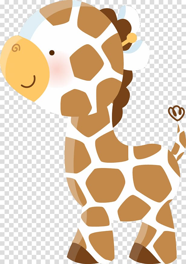 Giraffe illustration, Giraffe Baby Jungle Animals Wall decal.