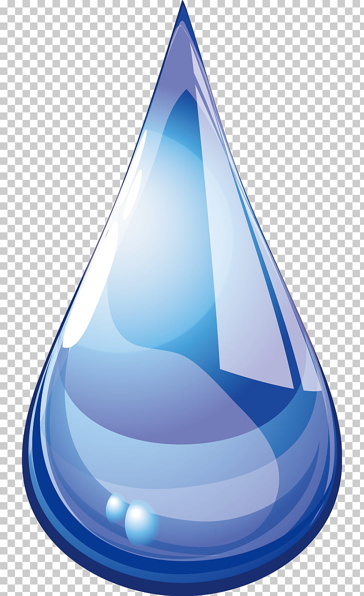 Cone Drop Water, Droplets element PNG clipart.