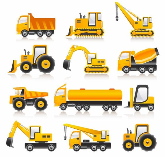 Types of Construction Vehicles.