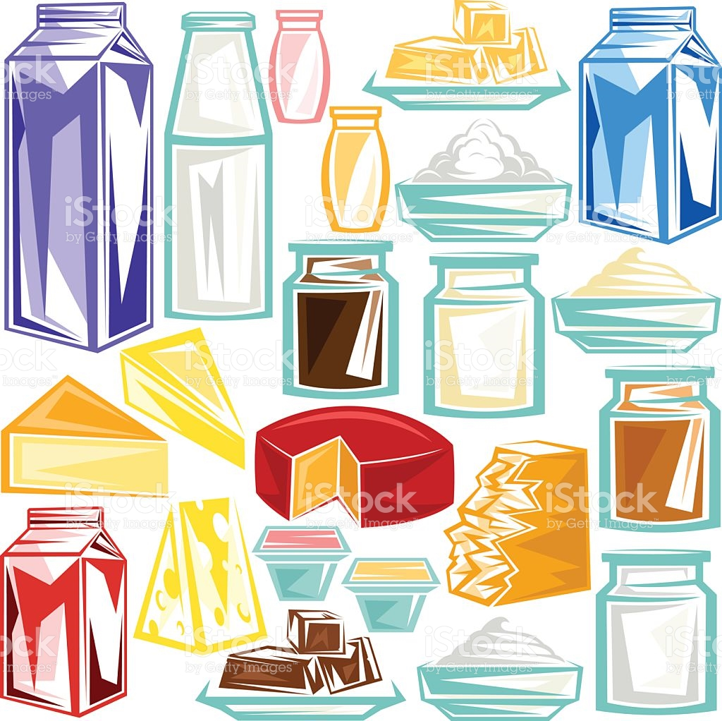 Dairy Product stock vector art 516847700.