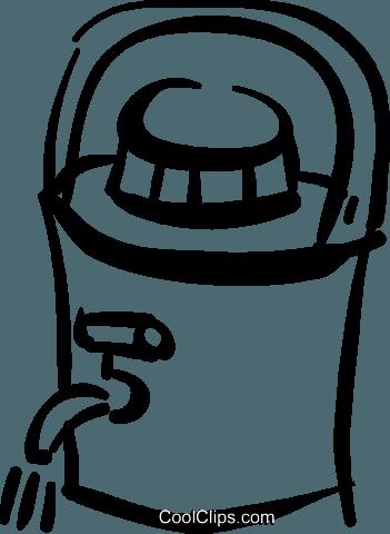 water cooler Royalty Free Vector Clip Art illustration.