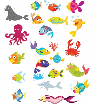 Water and water creaters clipart.