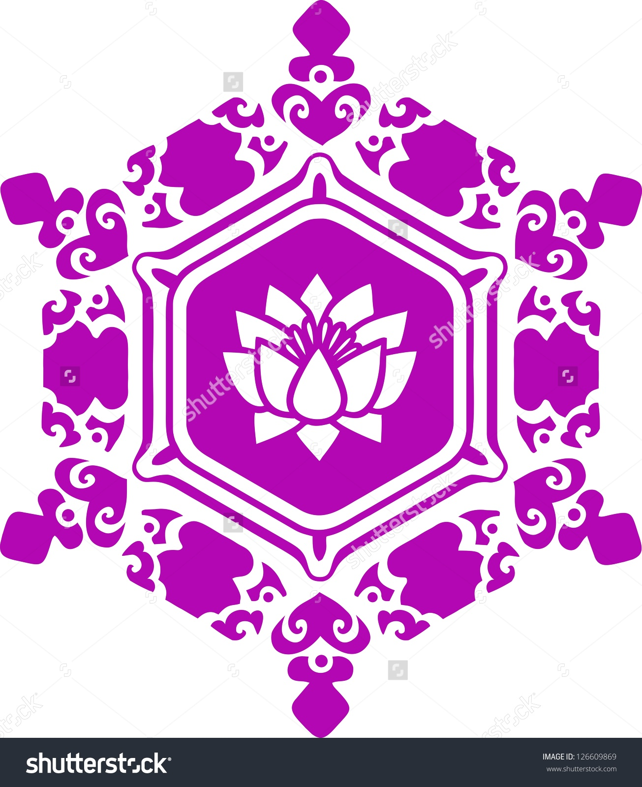 Vector Image Water Crystal Love Lotus Stock Vector 126609869.