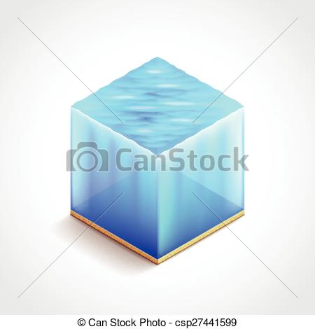 EPS Vectors of Isometric water cube vector illustration.
