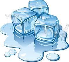 Ice cube water liquid clipart.
