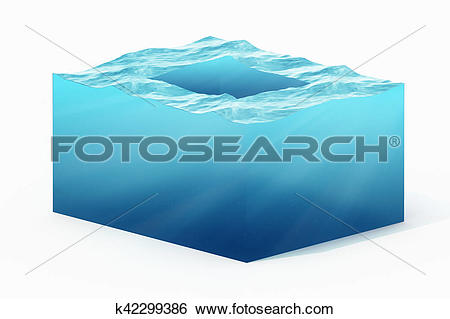 Stock Illustration of 3d rendering illustration of cross section.
