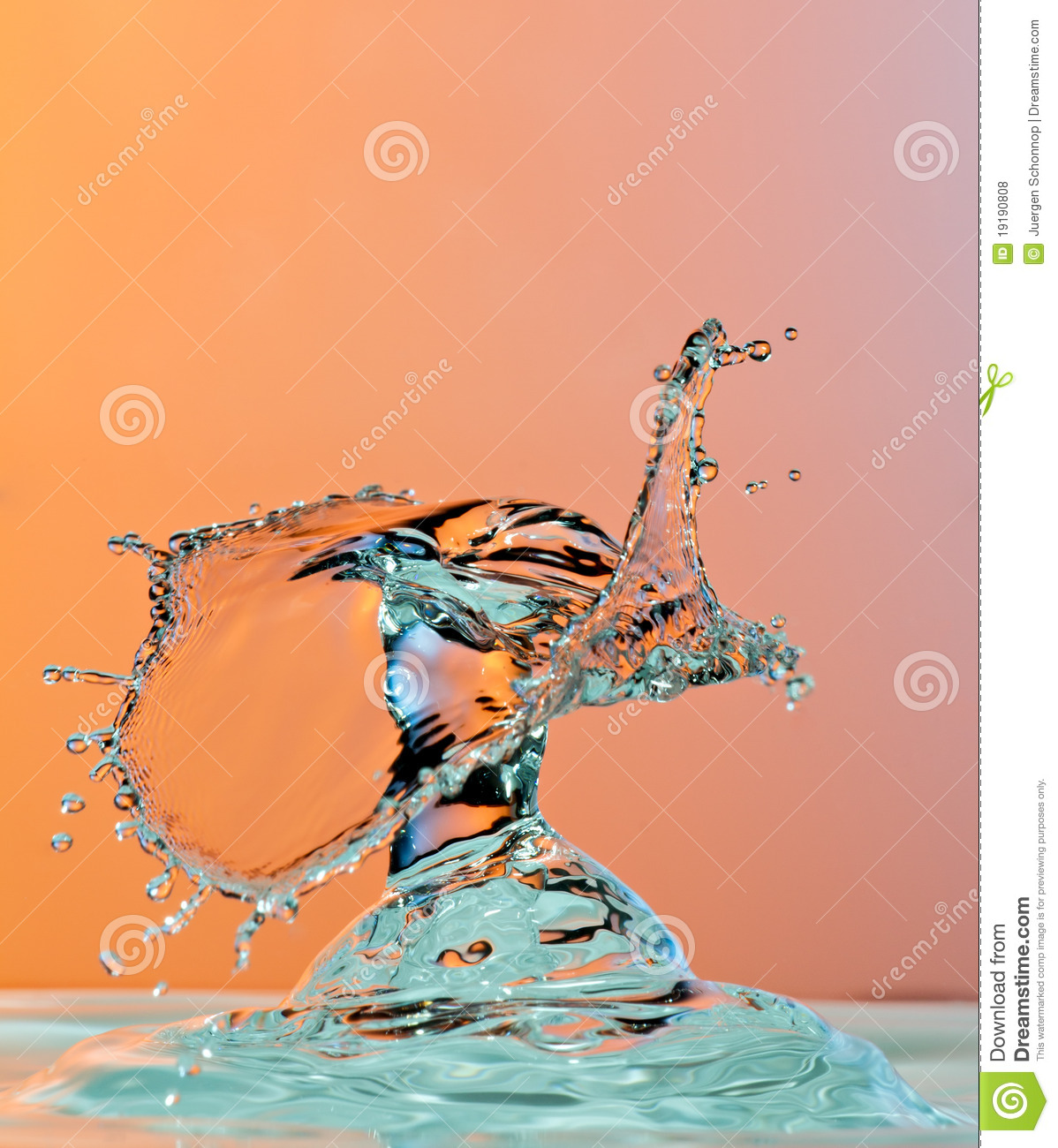 Dancing Water Droplet High Speed Photography Royalty Free Stock.
