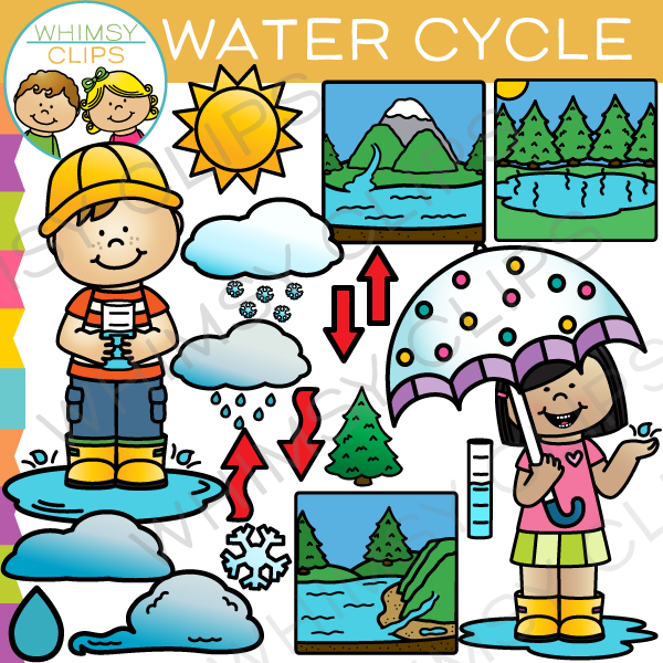 Water Cycle Clip Art.