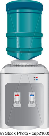 Vector of Water Dispenser.