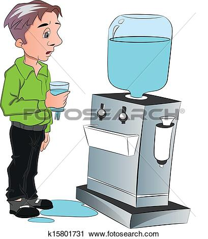 Clipart of Water dispenser isolated on white background. Water.