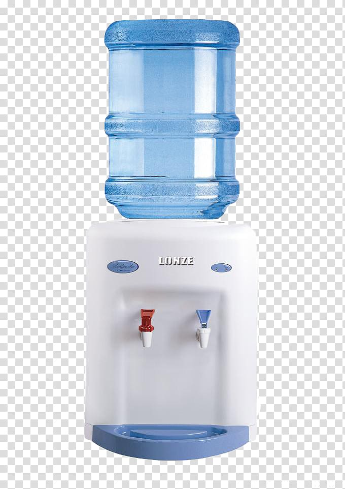 White hot and cold water dispenser, Crystal Mountain Water.