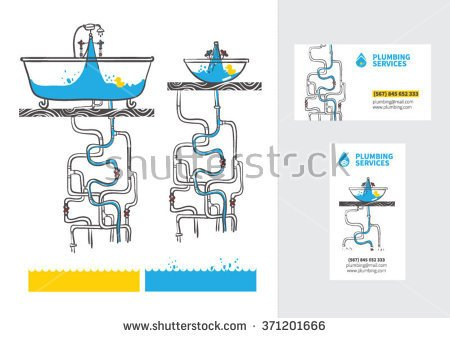 Water pyping system clipart.