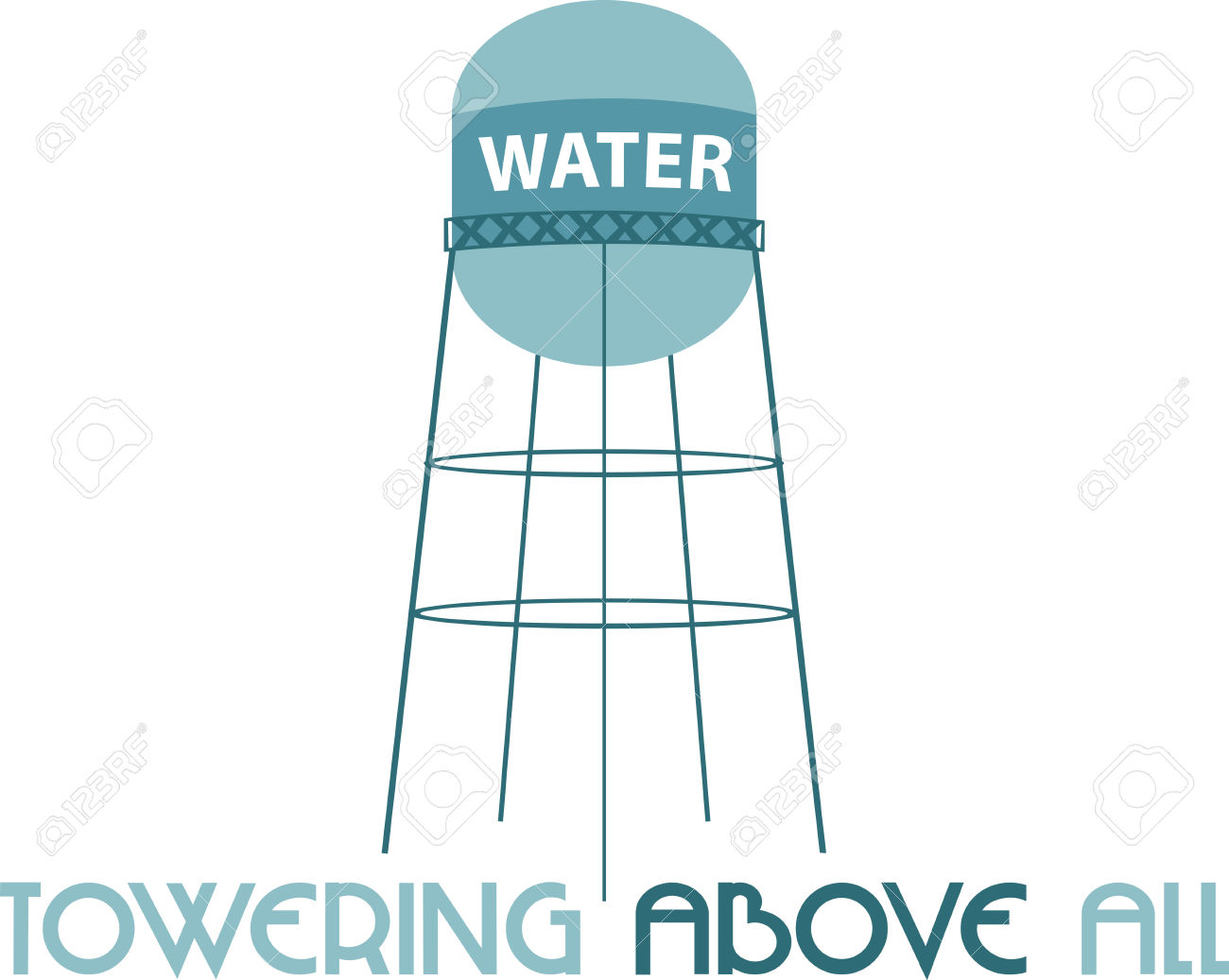A Water Tower Or Elevated Water Tower Is A Large Elevated Water.