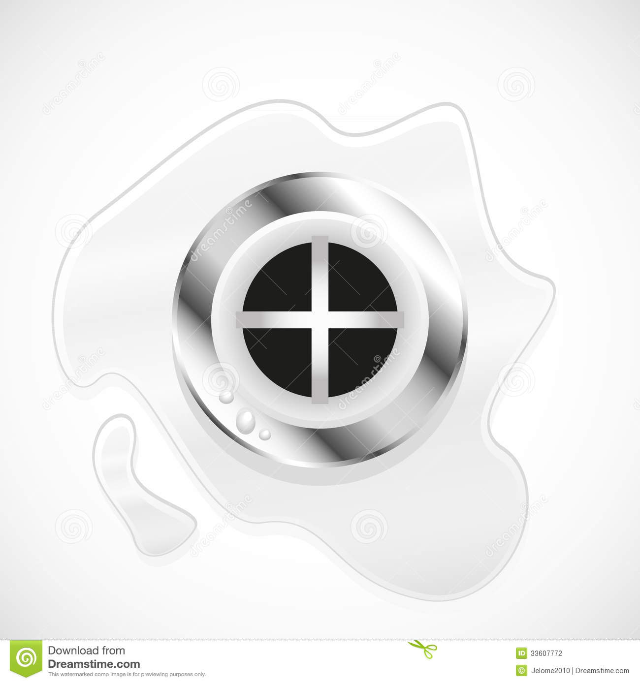Water Draining Down Plug Hole Stock Photography.
