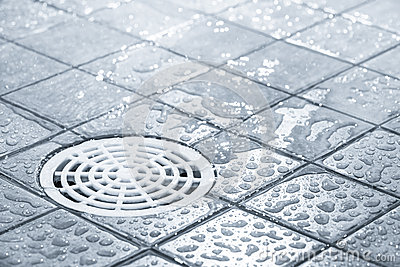 Floor drain water clipart.