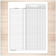 Water Drinking Checklist Printable Medical Form, free to download.
