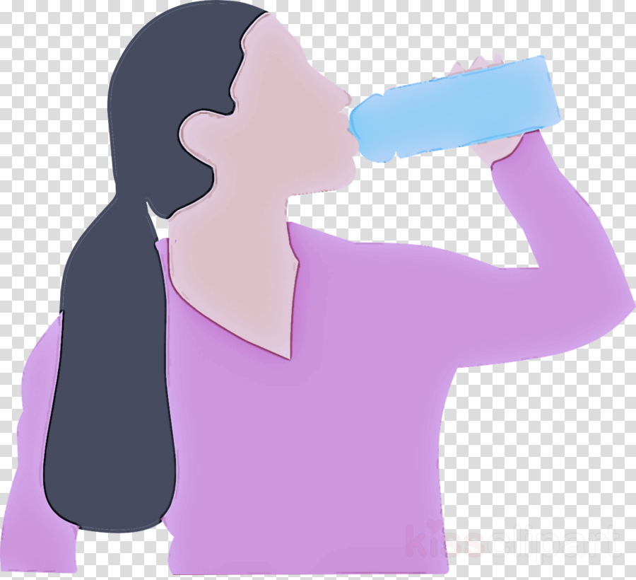 water drinking neck drinking water clipart.