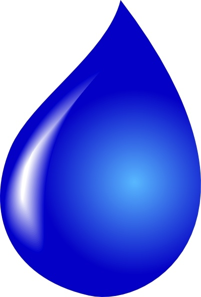 Water Drop clip art Free vector in Open office drawing svg.