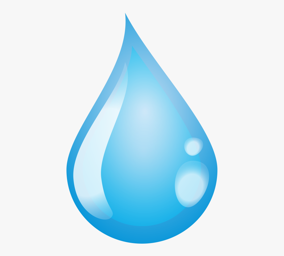 Water Drop Clipart Single.