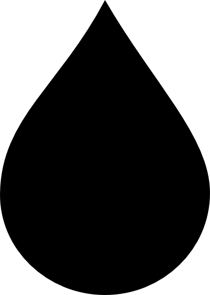 Water Drop Clipart Black And White Free Transparent Png 2.