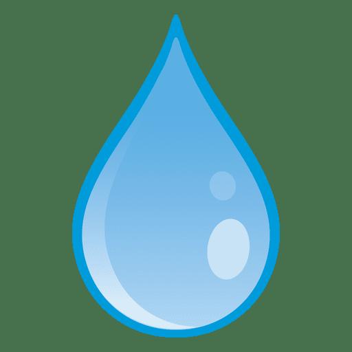 Water drop falling illustration.