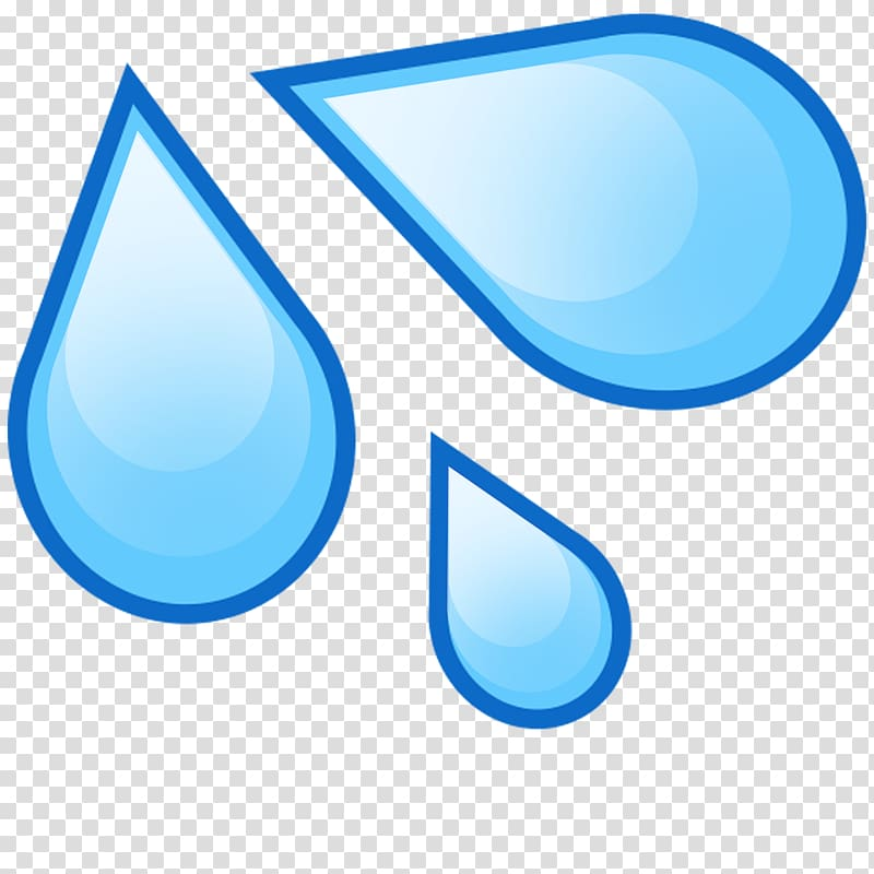 Water drop illustration, Emoji Drop Water Splash Drawing.
