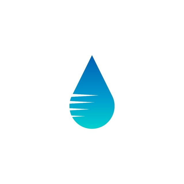 Blue Water Drop Logo Icon Template Vector, Business, Water.