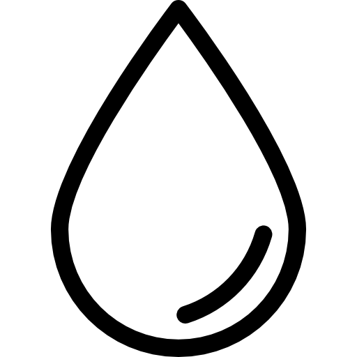 Ink drop outline Icons.