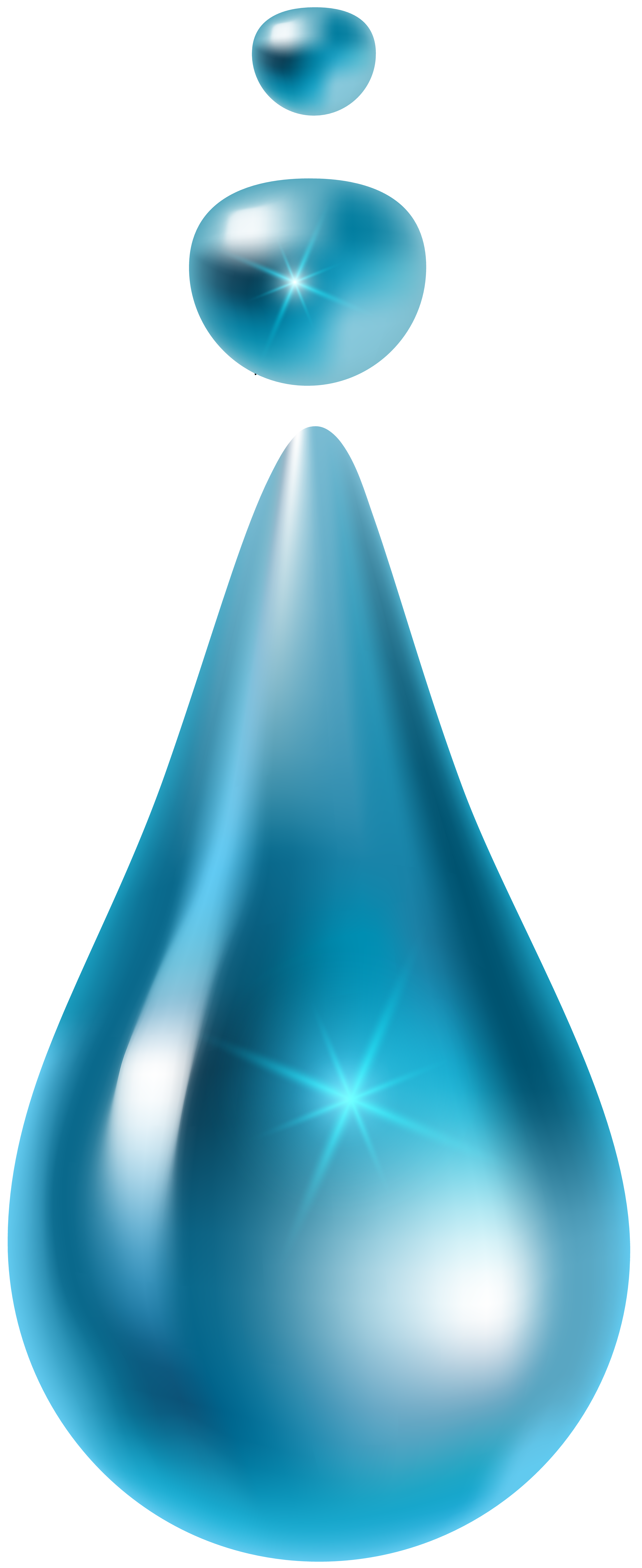 Water Drop PNG Clip Art Image.