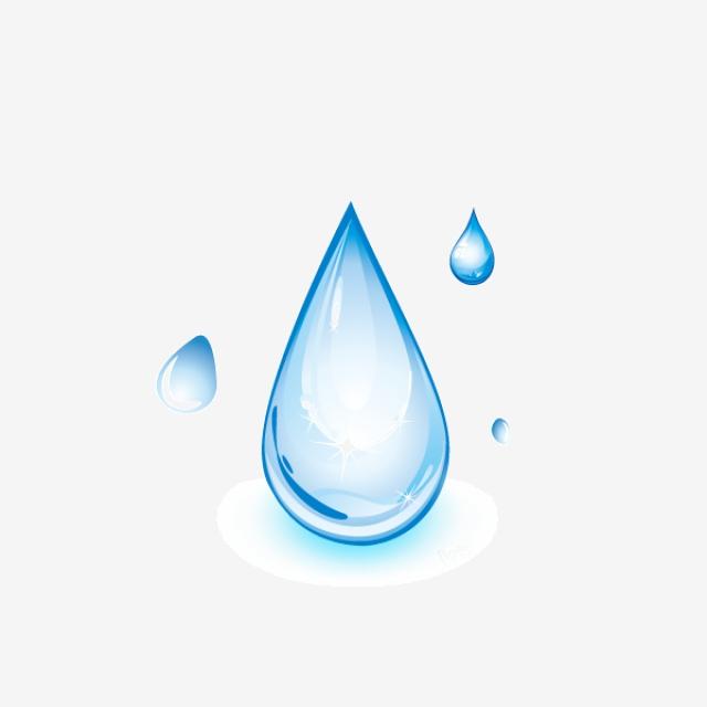 Cartoon Water Drops, Cartoon Clipart, Water Clipart, Blue.