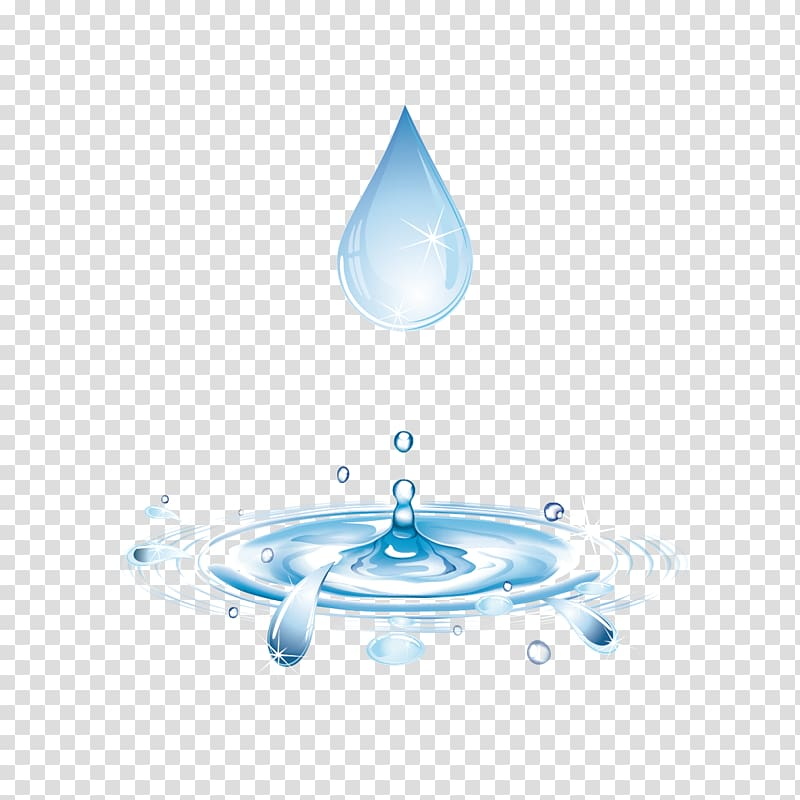 Water Drop Computer file, And water droplets transparent.