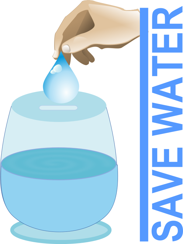 Water Drop Conserve Clipart Free.