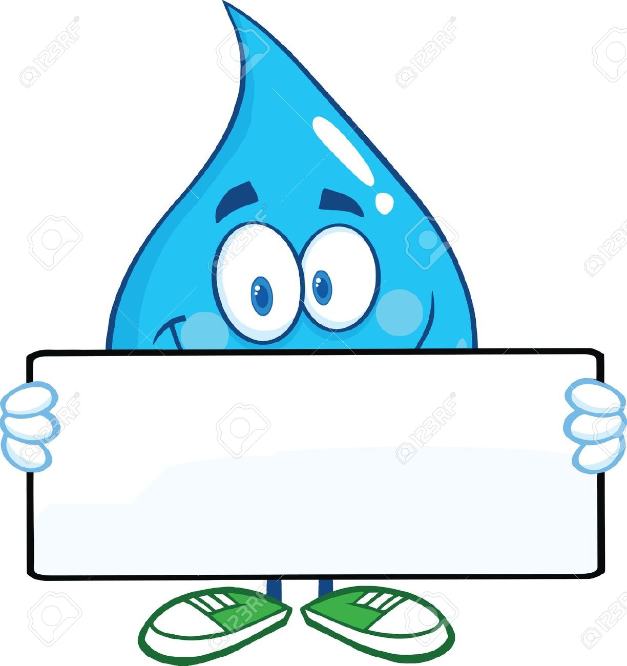 Water Droplet With Face Clipart.