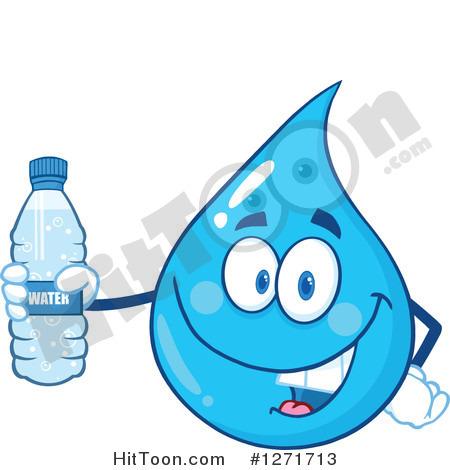 Water Bottle Droplets Clipart.