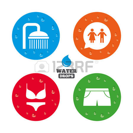 Water droplets from shower clipart.