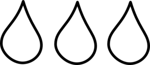 Water Drop Clipart Black And White.