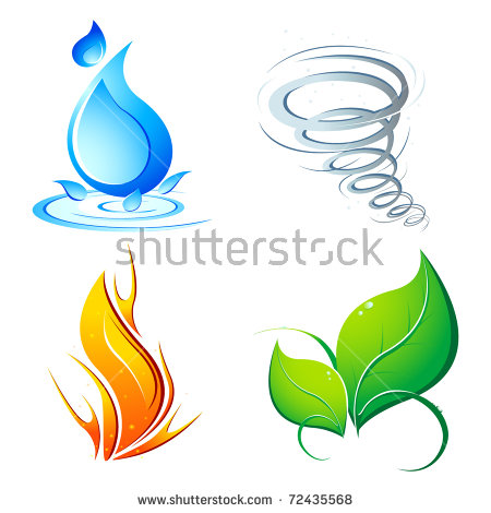 Earth Wind Fire Water Stock Images, Royalty.