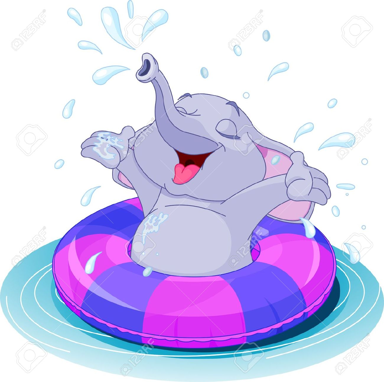 Water elephant clipart - Clipground