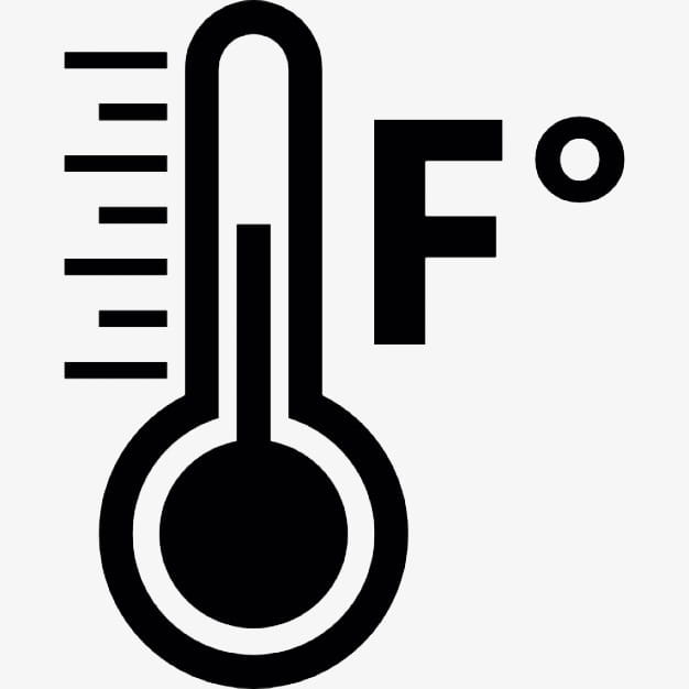 Black water temperature icon material PNG clipart.