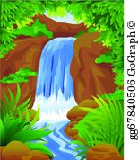 Waterfall Clip Art.
