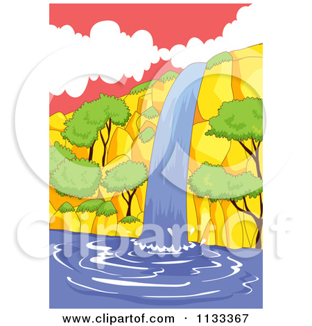 Clipart of waterfalls.