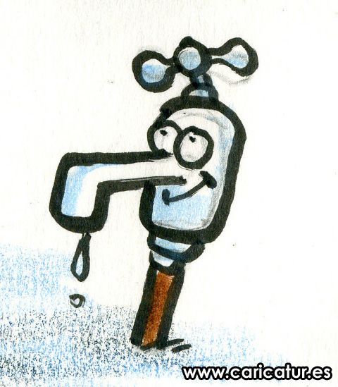 Tap Water Faucet Cartoon Clipart.