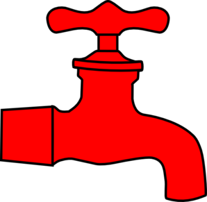 Hot Water Tap Clipart.