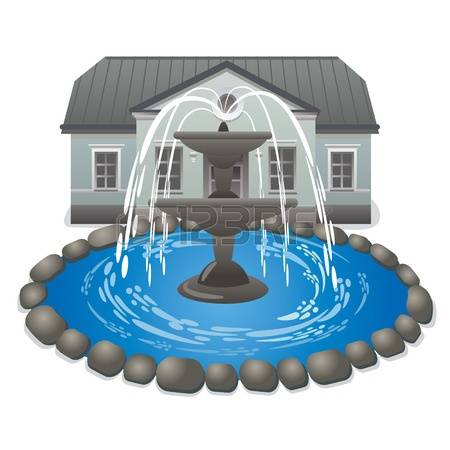 335 Water Fountain Garden Stock Vector Illustration And Royalty.