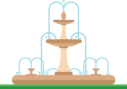 Water Fountain Clip Art, Vector Images & Illustrations.