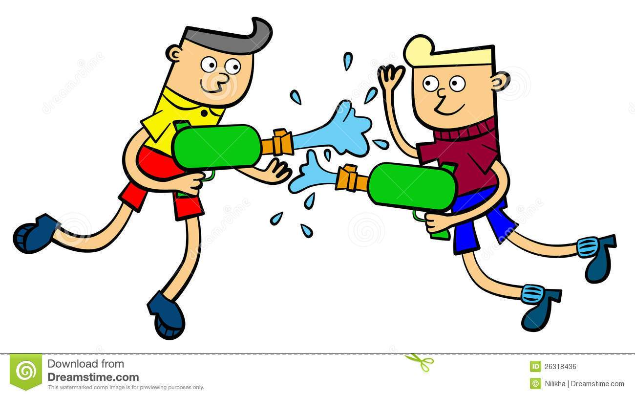 Water fight clipart » Clipart Portal.