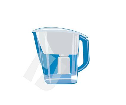Water Filter Vector Clip Art.