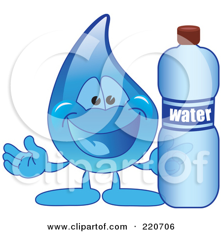 Clipart Picture of a Water Drop Mascot Cartoon Character Talking.