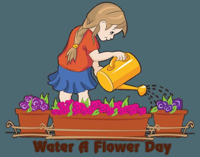 Clip Art for Watr A Flower Day.